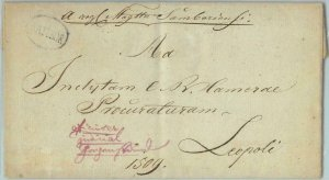 94192 - RUSSIA  - POSTAL HISTORY - PREPHILATELIC Cover from SAMBOR Ukraine 1837