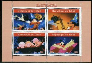 CHAD  2019 FANTASIA SET OF TWO  SHEETS  MINT NEVER HINGED