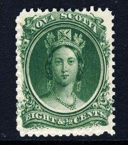 NOVA SCOTIA CANADA QV 1860 8½ Cents Yellow-Green on Yellowish Paper SG 15 MINT