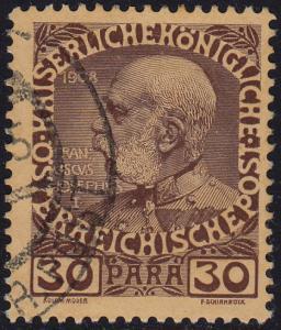 Austria Levant - 1908 - Scott #48 - used
