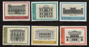 GREECE Scott 1220-1225 MNH** 1977 architecture set