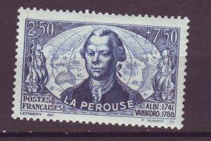 J25046 JLstamps 1942 france set of 1 mh #b129 count de la perouse