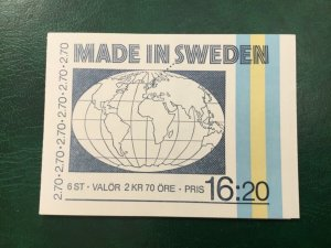 ICOLLECTZONE Sweden 1501a Booklet VF NH