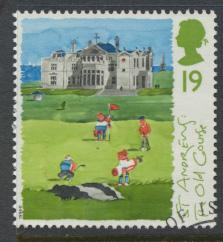 Great Britain  SG 1829 SC# 1567 Used / FU with First Day Cancel - Golf Scotti...