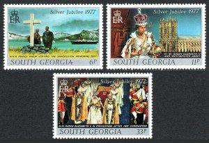 South Georgia 48-50, MNH. QE II Silver Jubilee of the Reign, 1977