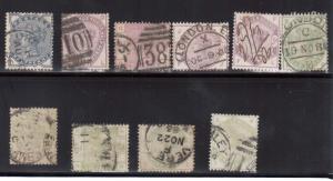 Great Britain #98 - #107 Used Scarce Set