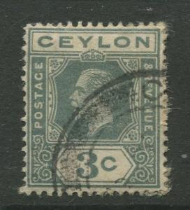 Ceylon #228 Used  1922  Single 3c Stamp