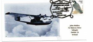 IRELAND - 70th Anniversary Flight - NFLD to FOYNES Post Card of Flying Boat