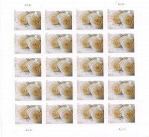 4520 Wedding Rose Complete Sheet of 20 Forever Stamps Mint NH - Stuart Katz