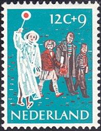 Netherlands # B339 mnh ~ 12¢ + 9¢ Children Crossing Street