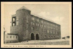 Gilmora Hall St. Bernard college Antigonish N.S. Nova Scotia post card Canada