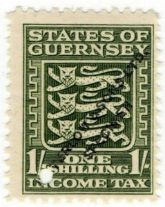 (I.B-CK) Guernsey Revenue : Income Tax 1/- (Waterlow specimen)