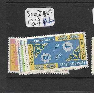 KUWAIT (P0503B) POSTAGE DUE SG D276-80  MNH