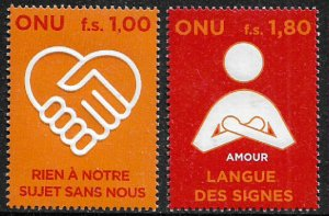 UN, Geneva #485-6 MNH Set - Persons With Disabilities