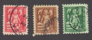 CUBA SC# RA30+31+33  **USED** 1956  1c     SEE SCAN