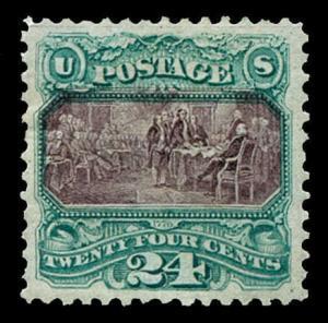 momen: US Stamps #130 Mint OGph PSE Graded XF-90