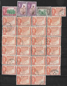 COLLECTION LOT OF 90 SARAWAK 1950+ STAMPS CLEARANCE CV + $47 2 SCAN