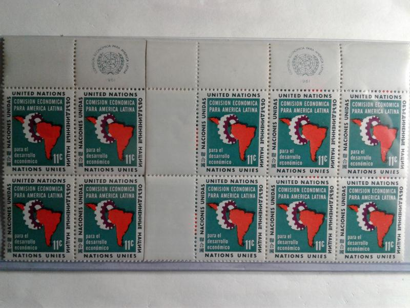 UN CLOSEOUT SCOTT # 94 2 PLATE BLOCKS MINT NEVER HINGED FIRST ISSUE 1961 GEM