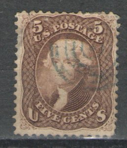 US 1863 Sc# 76 Used G/VG with target cancel