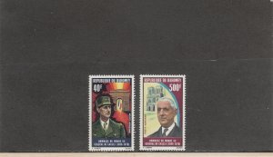 DAHOMEY C136-C137 MNH 2014 SCOTT CATALOGUE VALUE $7.30