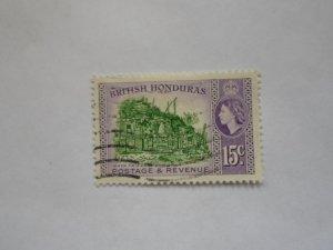 BRITISH HONDURAS STAMP  USED NINGE MARKS # 19