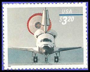 PCBstamps  US #3261 $3.20 Space Shuttle Landing, 1998, MNH, (2)