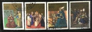 Vatican #779-782 U CV$4 Conversion St. Augustine/Gozzoli/Gentile/Raphael [178...