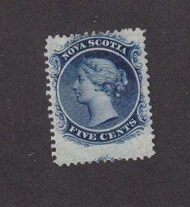 NOVA SCOTIA # 10 MNG AND LIGHT USED 5cts Q/VICTORIA CAT VALUE $260
