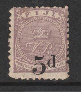 Fiji an old MH 5d overprint