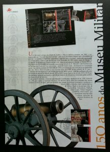 Portugal 150th Anniv Of Museum Military 2001 Weapon War (stamp on info sheet)