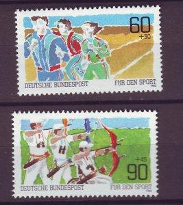 J25208 JLstamps 1982 germany set mnh #b598-9 sports