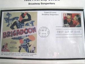 1999 BROADWAY SONGWRITERS FDCs - set of 6