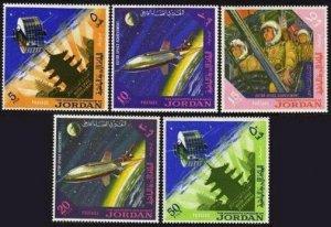 Jordan 521-521D,521Da,MNH.Michel 541-545,Bl27. Space Research,1965.
