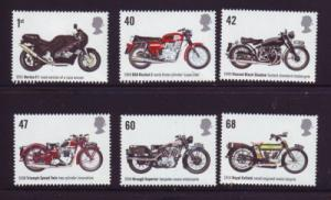 Great Britain Sc 2295-0 2005 Motorcycles stamps mint  NH