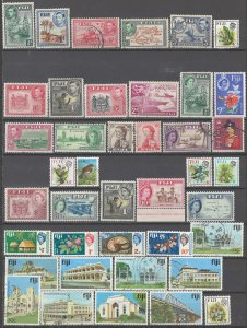 COLLECTION LOT # 2374 FIJI 41 STAMPS 1938+ CV+$22