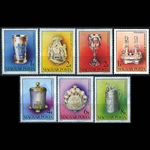 HUNGARY 1984 - Scott# 2894-900 Jewish Art Set of 7 NH