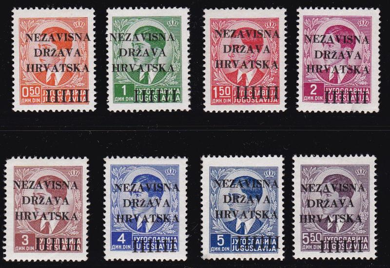Croatia 1941 Nr.1-8 Set Complete (8) in XF+/NH Condition. First Set