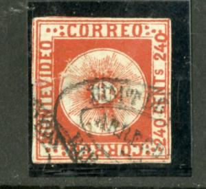 Uruguay Stamps # 6 VF USED Scott Value $1,200.00