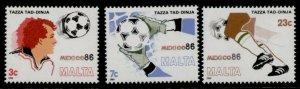 Malta 679-81 MNH World Cup Soccer Championships