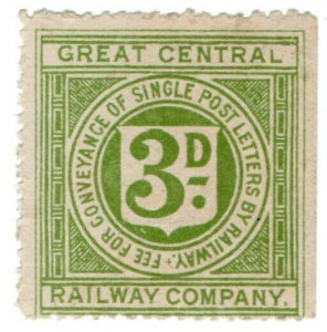 (I.B) Great Central Railway : Letter Stamp 3d