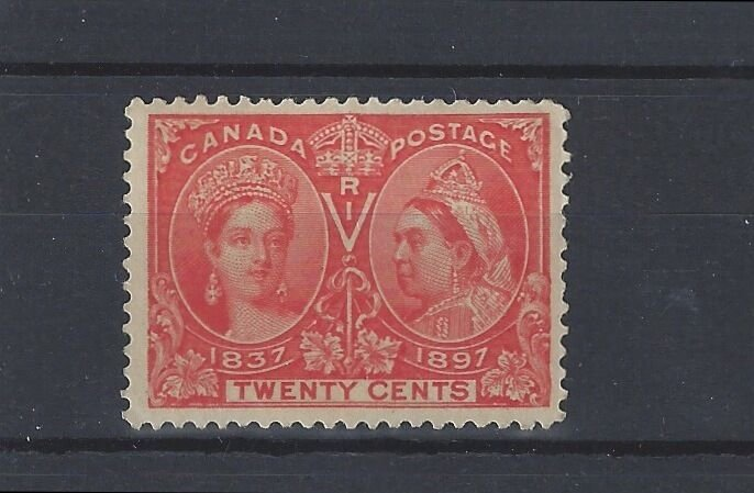 20 cent 1897 Jubilee issue #59 VF MNH Cat $1200 Canada mint