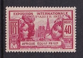 French Equatorial Africa   #29   MNH  1937 Paris exhibition  40c