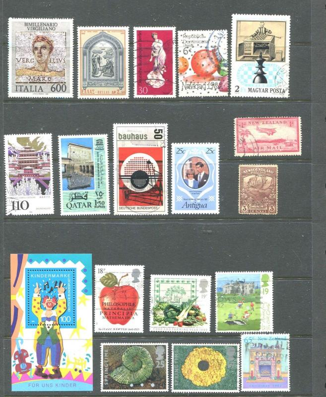 Selection Mostly Larger Mint~Used World Wide Stamps ALL Pictured