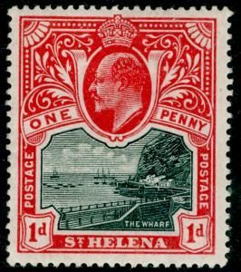 ST. HELENA SG56, 1d black & carmine, M MINT.
