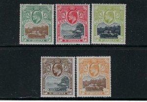 ST. HELENA SCOTT #50-54 1903 EDWARD VII SHORT SET- MINT HINGED
