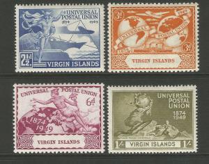 Virgin Islands 1949 UPU 75th Anniversary Commemorative Set Mounted Mint