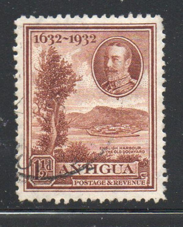 Antigua Sc 69 1932 1 1/2d brown Old Dockyard at English Harbour  stamp used