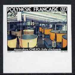 French Polynesia 1981 Aquaculture - Shrimp-hatching room ...