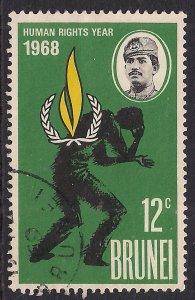 Brunei 1968 QE2 12ct Human Rights Emblem SG 163 ( F683 )
