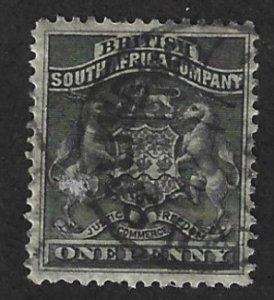 Rhodesia Scott # 2 1p Used Coat of Arms 2017 CV $4.00